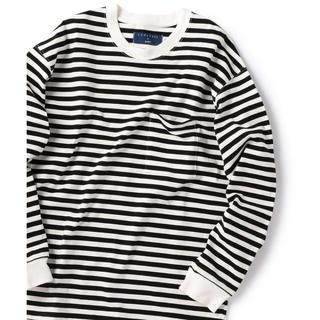 シップス(SHIPS)の定価10780円 CURLY for SHIPS 別注ボーダーロングスリーブ S(Tシャツ/カットソー(七分/長袖))