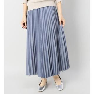IENA SLOBE - 起毛シャンブレープリーツスカート