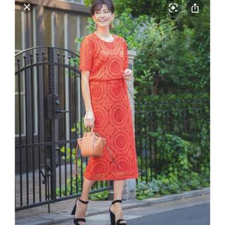 ラグナムーン(LagunaMoon)のGIRLのオレンジセットアップ(ミディアムドレス)