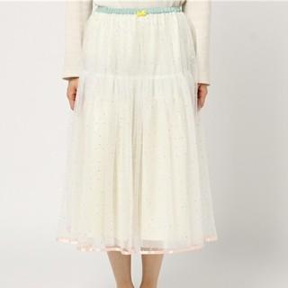 フランシュリッペ(franche lippee)のフランシュリッペ かわいいチュールドットスカート(ひざ丈スカート)