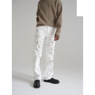 COMOLI - AURALEE 20AW HARD TWIST DENIM HAND PAINT
