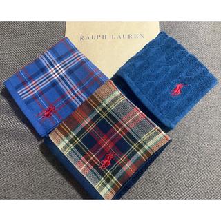 ラルフローレン(Ralph Lauren)のRalph Lauren ラルフローレン ハンカチ 3枚(ハンカチ/バンダナ)