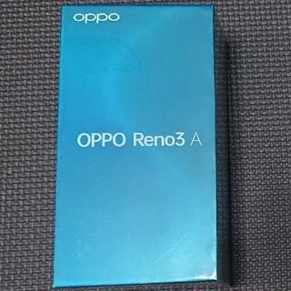アンドロイド(ANDROID)の新品未開封 OPPO Reno3A Black UQmobile版 SIMフリー(スマートフォン本体)