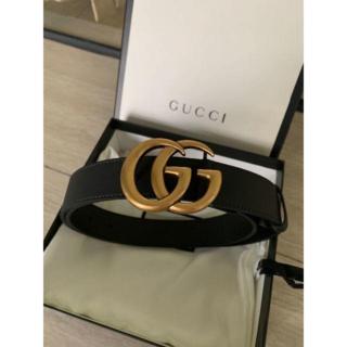 Gucci - グッチ 大人気 ダブルGバックル レザー ベルト3cm幅