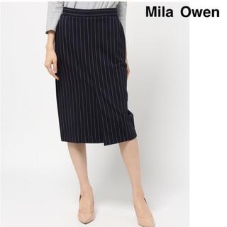 ミラオーウェン(Mila Owen)の【極美品】Mila Owen ストライプジャージスカート ミラオーウェン(ロングスカート)