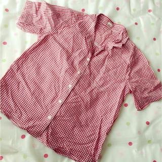 ジーユー(GU)の赤チェックシャツ♡(シャツ/ブラウス(半袖/袖なし))
