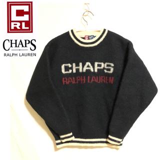 ラルフローレン(Ralph Lauren)のCHAPS POLO RALPH LAUREN ニット ブラック セーター(ニット/セーター)