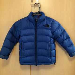 ザノースフェイス(THE NORTH FACE)のノースフェイス ダウンジャケット 青 size100(ジャケット/上着)