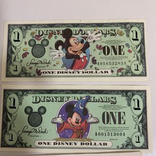 ディズニー(Disney)のディズニー ダラー 1ドル✖︎2枚(貨幣)