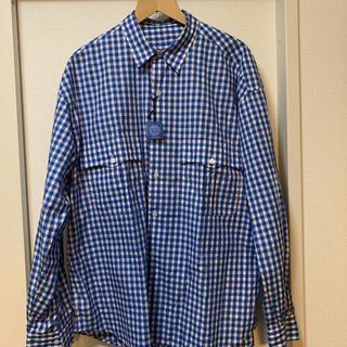 PORTER - 20ss ポータークラシック ロールアップシャツ ギンガムブルー Lサイズ