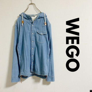 ウィゴー(WEGO)のBROWNY フード付きデニムシャツ(シャツ)