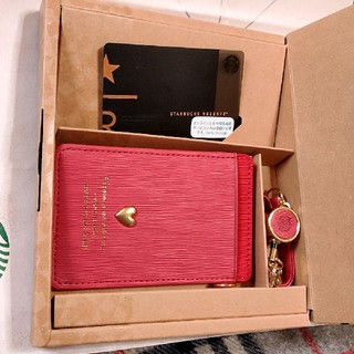 スターバックスコーヒー(Starbucks Coffee)のスターバックス アフタヌーンティー パスケース リザーブカード 付き スタバ(名刺入れ/定期入れ)
