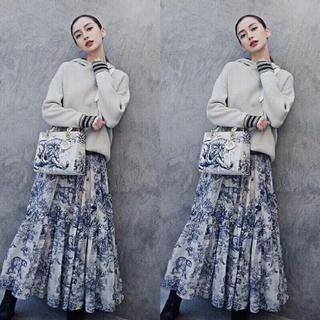 クリスチャンディオール(Christian Dior)のプリントスカート(ロングスカート)