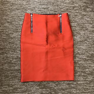 ドゥロワー(Drawer)のドゥロワー 36 スリット シルク混 タイトスカート(ひざ丈スカート)