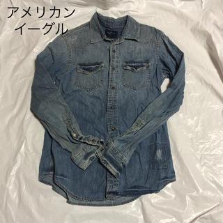 アメリカンイーグル(American Eagle)のアメリカンイーグル シャツ デニムシャツ XSサイズ(シャツ)