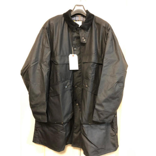 バーブァー(Barbour)のBarbour×Kaptain Sunshine Black 38(ステンカラーコート)