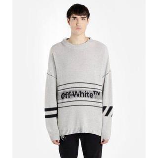 OFF-WHITE - Off-white ロゴインターシャセーター【正規品・本物】