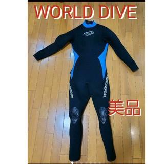美品 ワールドダイブ メンズウェットスーツ フルスーツ ダイビング サーフィン