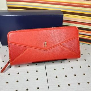ロベルタディカメリーノ(ROBERTA DI CAMERINO)の新品箱付きロベルタディカメリーノ長財布赤大容量(財布)