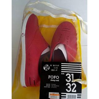 クロックス(crocs)の新品未使用 Priaz FOFO プライアツ  キッズ 17.5cm 赤(スニーカー)