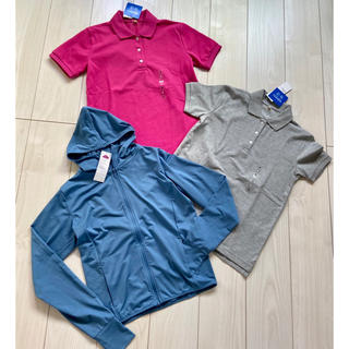 Polo Golf - 新品 レディース ポロシャツ メッシュパーカー UV対策 紫外線対策 ゴルフ S