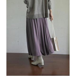 ドアーズ(DOORS / URBAN RESEARCH)のとろみサテンギャザースカート アーバンリサーチ ドアーズ(ロングスカート)
