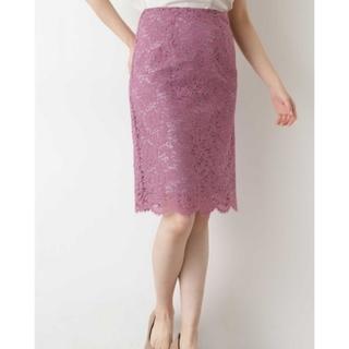 ナチュラルビューティーベーシック(NATURAL BEAUTY BASIC)のナチュラルビューティーベーシック スカラレースタイト スカート(ひざ丈スカート)