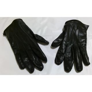 クリスチャンオジャール(CHRISTIAN AUJARD)のCHRISTIAN AUJARD HOMME 天然皮革 手袋 ブラック(手袋)