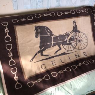 セリーヌ(celine)の【お買い得】セリーヌ 140✖️100 大判 膝掛 秋色 ブラウン ブランケット(毛布)