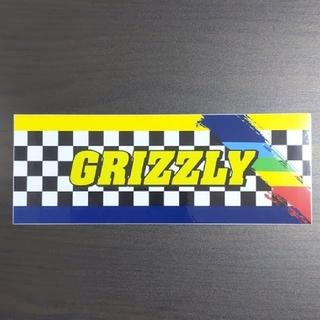 インディペンデント(INDEPENDENT)の(縦7.5cm横20.4cm)GRIZZLY ステッカー(スケートボード)