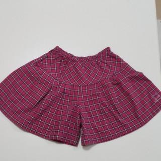 ニットプランナー(KP)のKP 130cm キュロット スカート見え ピンク色 チェック かわいい 女の子(パンツ/スパッツ)
