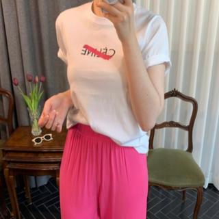 eimy istoire - 新品★ ホワイト  アルファベット ロゴ 半袖 ビッグ Tシャツ カジュアル