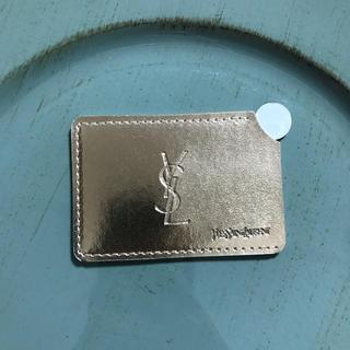 イヴサンローランボーテ(Yves Saint Laurent Beaute)のYSL イヴ・サンローラン携帯ミラー ケース付き シルバー(ミラー)