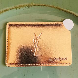 イヴサンローランボーテ(Yves Saint Laurent Beaute)のYSL イヴ・サンローラン携帯ミラー ケース付き ゴールド(ミラー)