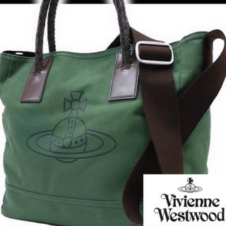 Vivienne Westwood - ヴィヴィアン ウエストウッド キャンバス ショルダー トート 2way バッグ