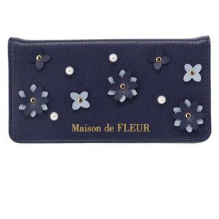メゾンドフルール(Maison de FLEUR)のMaison de fleur フラワーパーツiPhone X/XSケース(iPhoneケース)