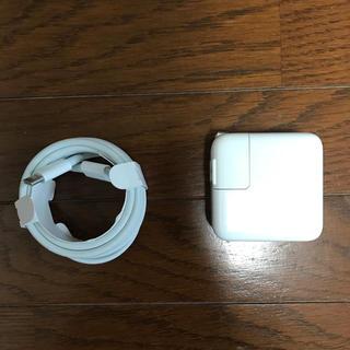 マック(Mac (Apple))のMacBook Air 純正充電器 Apple 新品 USB-C ケーブル(PC周辺機器)