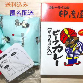 スヌーピー(SNOOPY)の【匿名配送!新品】スヌーピーエコバッグ&カレー辛口2個セット(その他)