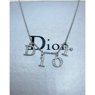 Christian Dior - CD590 未使用【Dior ディオール】ネックレス ストーン シルバー