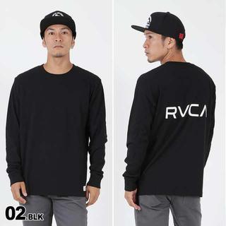 ルーカ(RVCA)の新品タグ付き Lサイズ RVCA バックロゴTシャツ ブラック(Tシャツ/カットソー(七分/長袖))