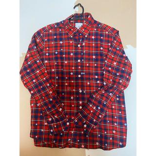 ソフ(SOPH)のfrgment uniform experiment 赤 ネルチェックシャツ(シャツ)