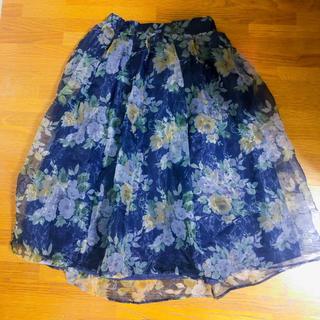 ダズリン(dazzlin)のdazzlin 花柄オーガンジースカート(ロングスカート)