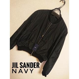 ジルサンダー(Jil Sander)のイタリア製☆JIL SANDER NAVY☆ブラックブルゾン(ブルゾン)