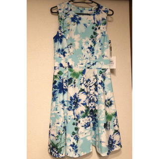 カルバンクライン(Calvin Klein)のカルバンクライン 花柄 ドレス 新品未使用(ひざ丈ワンピース)