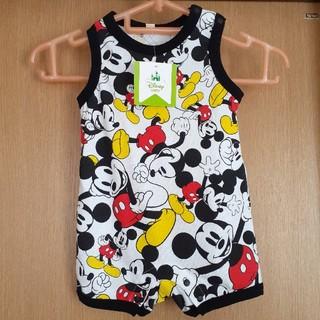 ディズニー(Disney)のディズニーベビー ノースリーブロンパース 70 ミッキーマウス 男の子向け(ロンパース)