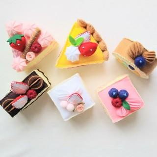 フェルトおままごと☆6種類のアソートケーキセットNo.2(その他)