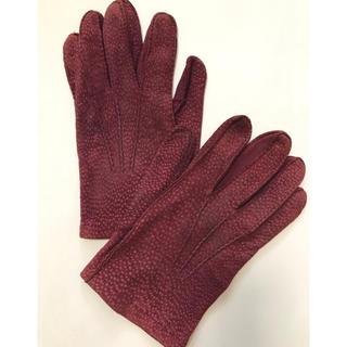 バーニーズニューヨーク(BARNEYS NEW YORK)の貴重 イタリア製 カーピンチョ グローブ カピバラ 手袋(手袋)