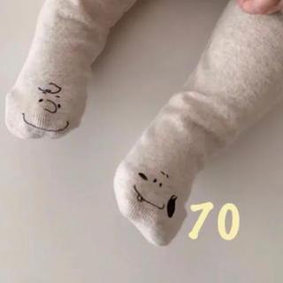 スヌーピー(SNOOPY)の【新品タグ付き】スヌーピータイツ(靴下/タイツ)