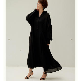 Plage - OUTERSUNSET ★wool gauze volume onepiece