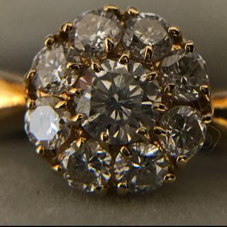 超美品‼️k18 キラッキラ0.5ct ダイヤモンドリング(リング(指輪))